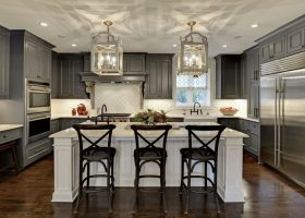 Traditional Dark Wood Kitchen Cabinets