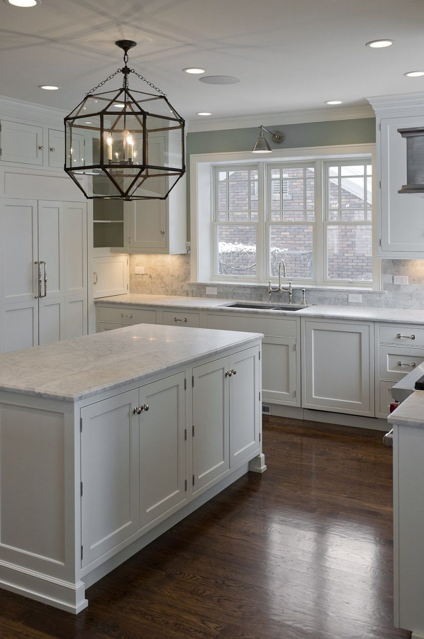 30 Spectacular White Kitchens With Dark Wood Floors Kitchendining