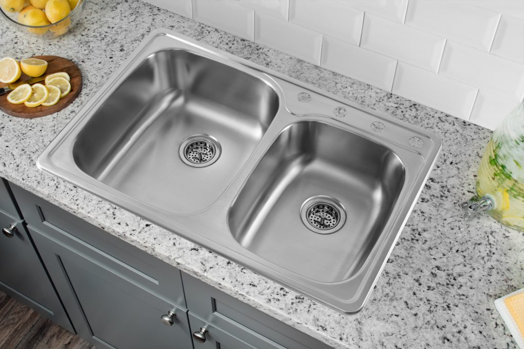 33 L X 22 W Drop In Double Bowl Kitchen Sink