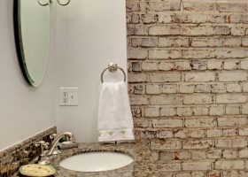 Brick Wall Bathroom Ideas