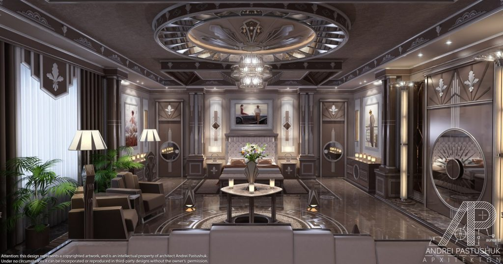 3d Art Deco Bedroom Luxury Model 1142745 Turbosquid