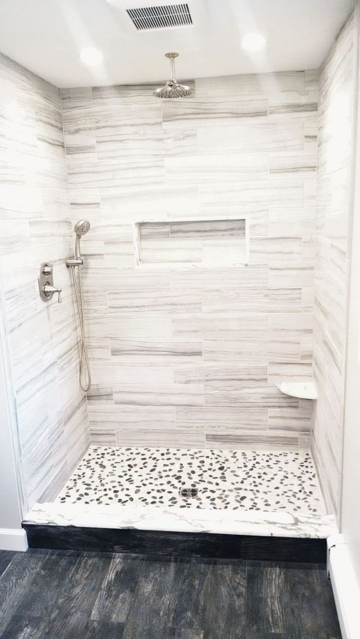40 Pebble Tile Bathroom Ideas 31 Tile Bathroom White Subway