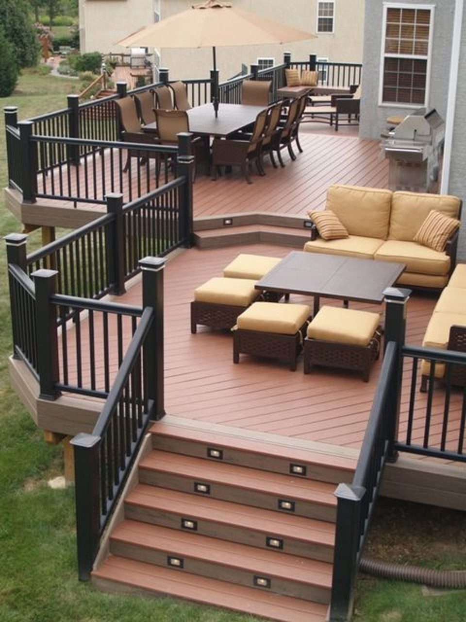 43 Cozy Backyard Patio Deck Design Decoration Ideas Backyard