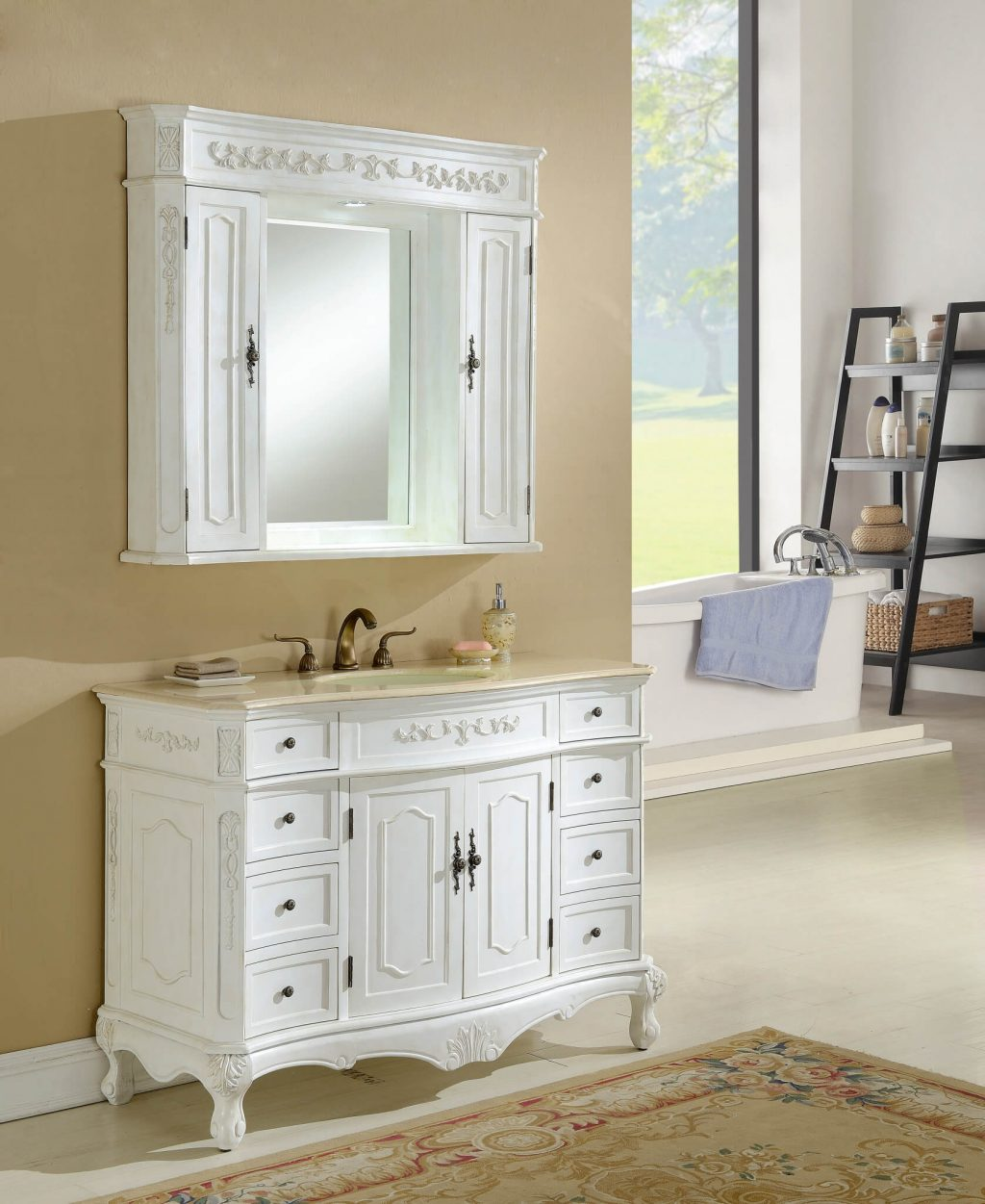 48 Kensington Antique White Bath Vanity