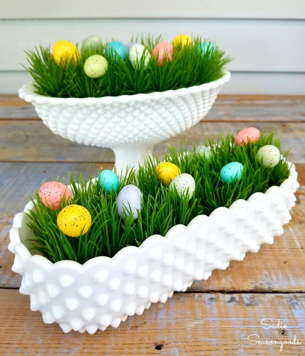 5 Minute Craft Easter Decor Easter Decorations With Hobnail Milk