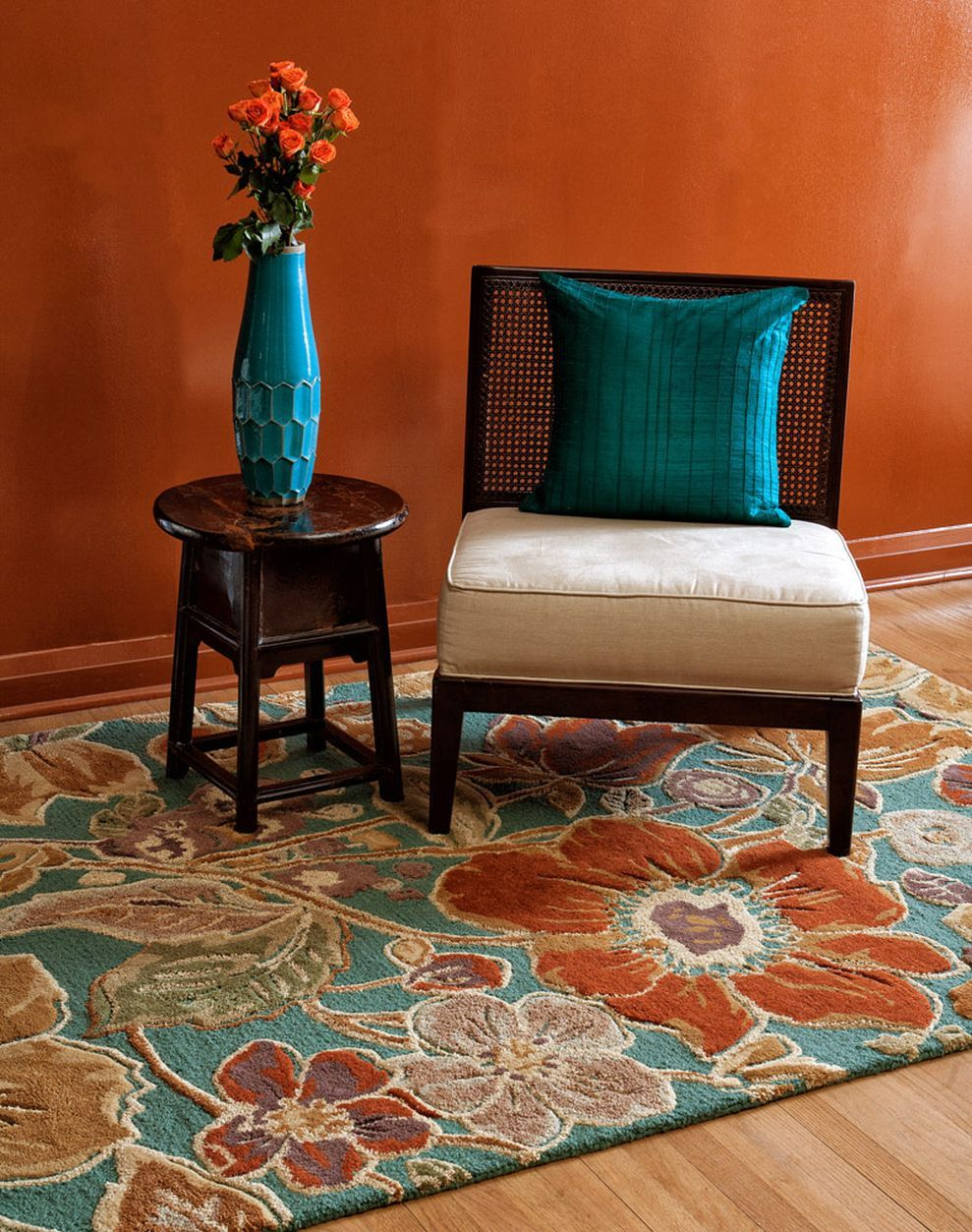 53 Adorable Burnt Orange And Teal Living Room Ideas Around The