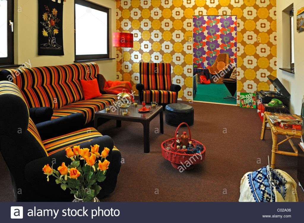 70s Living Room Leading To A Teenagers Room At A Special