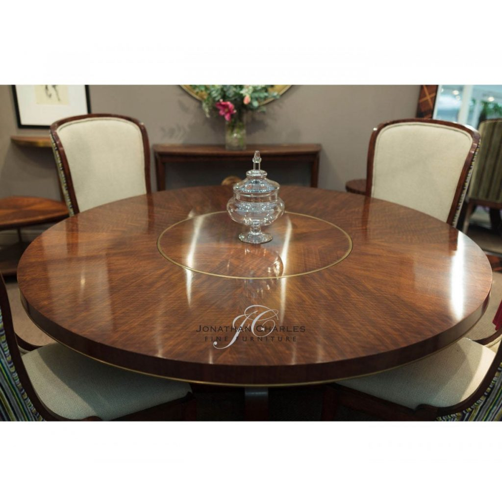 8 Seater Round Dining Table 72 Lazy Susan Swanky Interiors