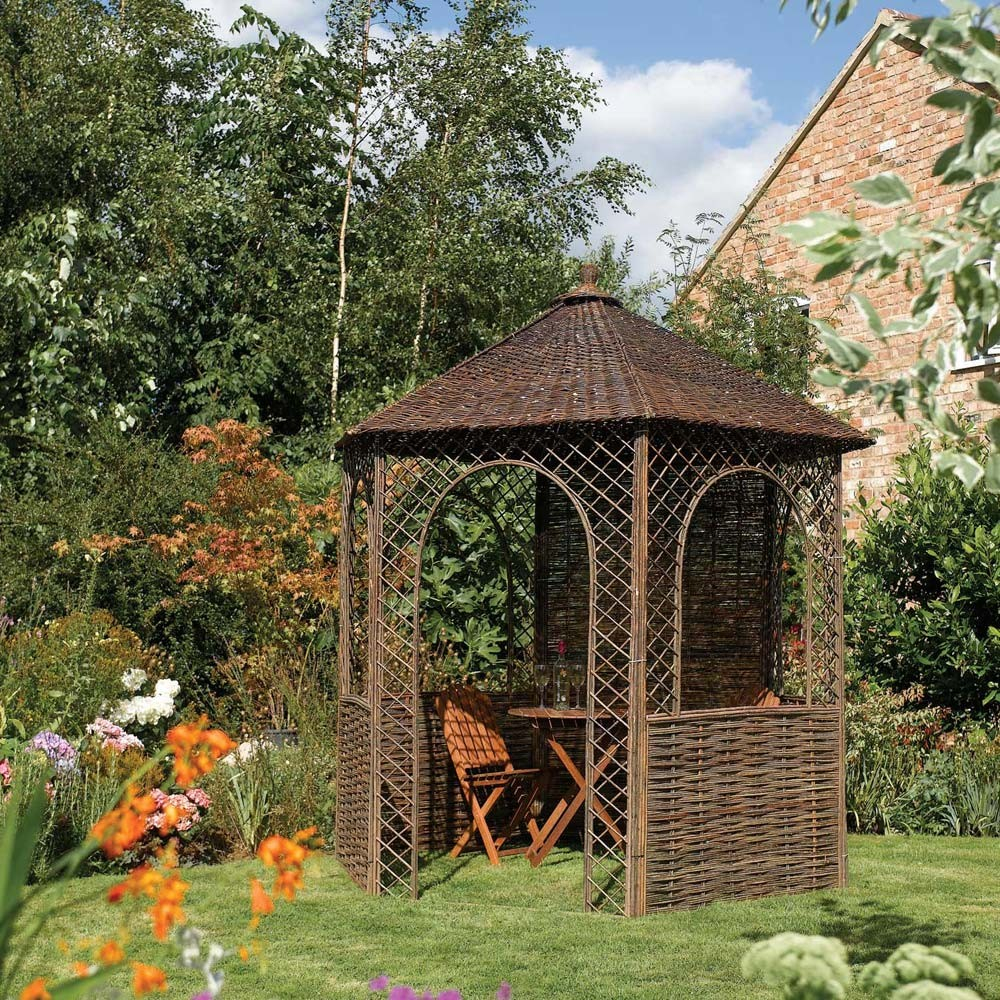82 X 71 Ft 25 X 22m Rustic Willow Garden Gazebo From