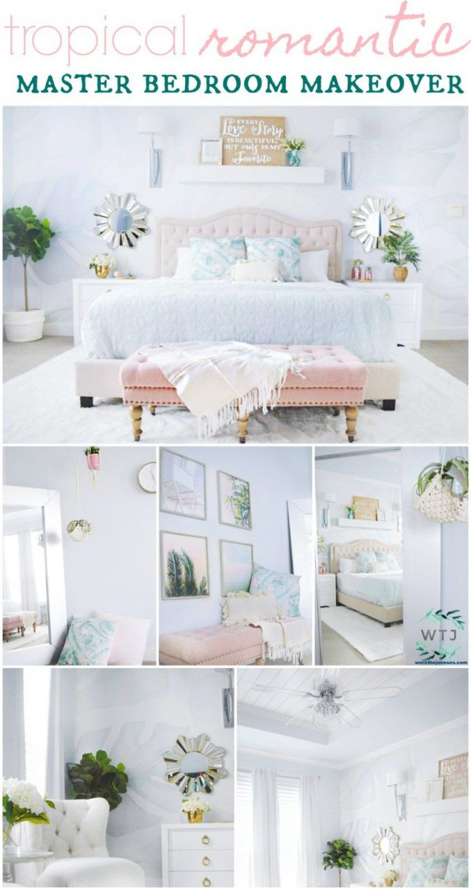A Beautiful Tropical Romantic Master Bedroom Makeover Lifestyle