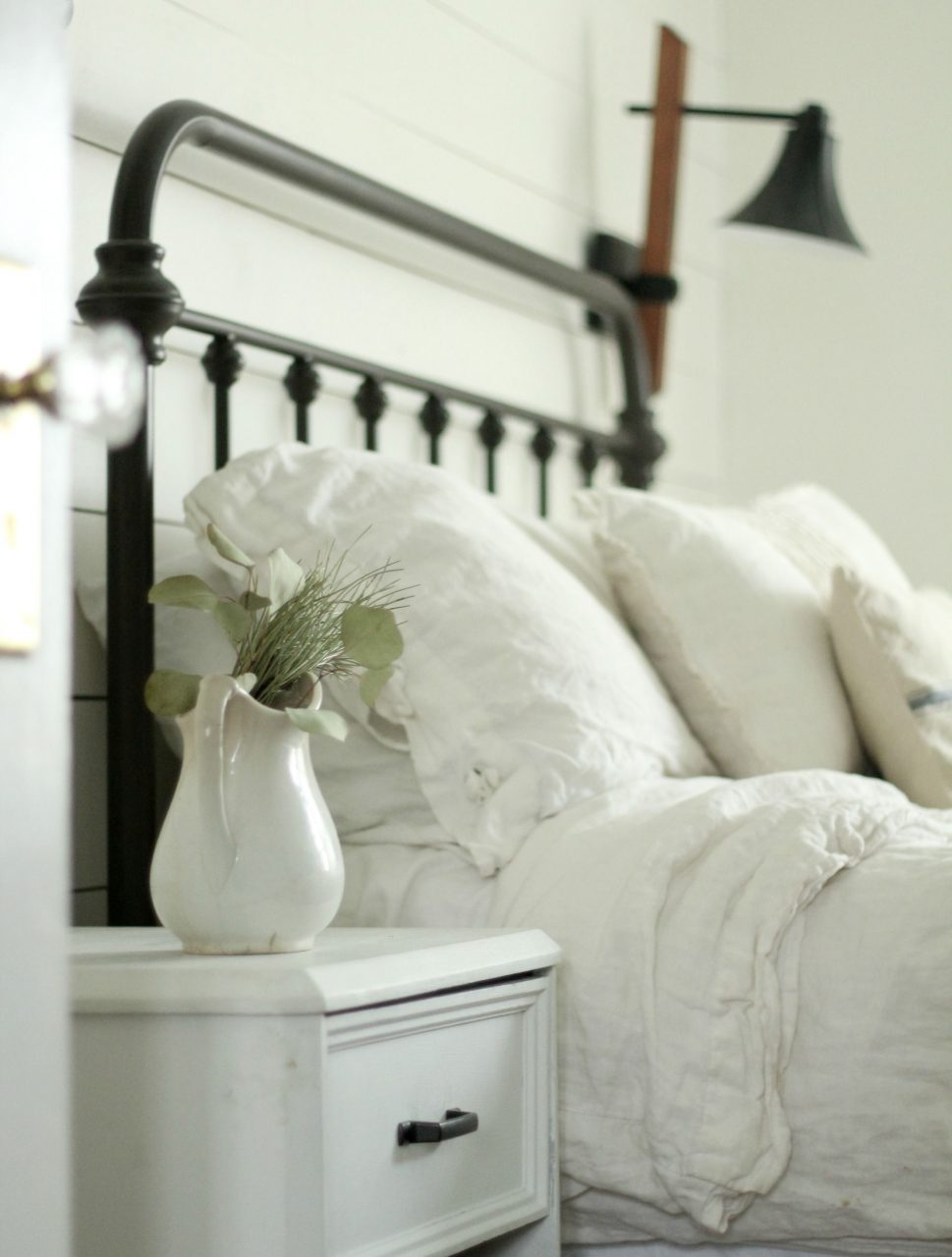 A Farmhouse Bedroom Makeover Part 4 Lamps And Nightstands Home