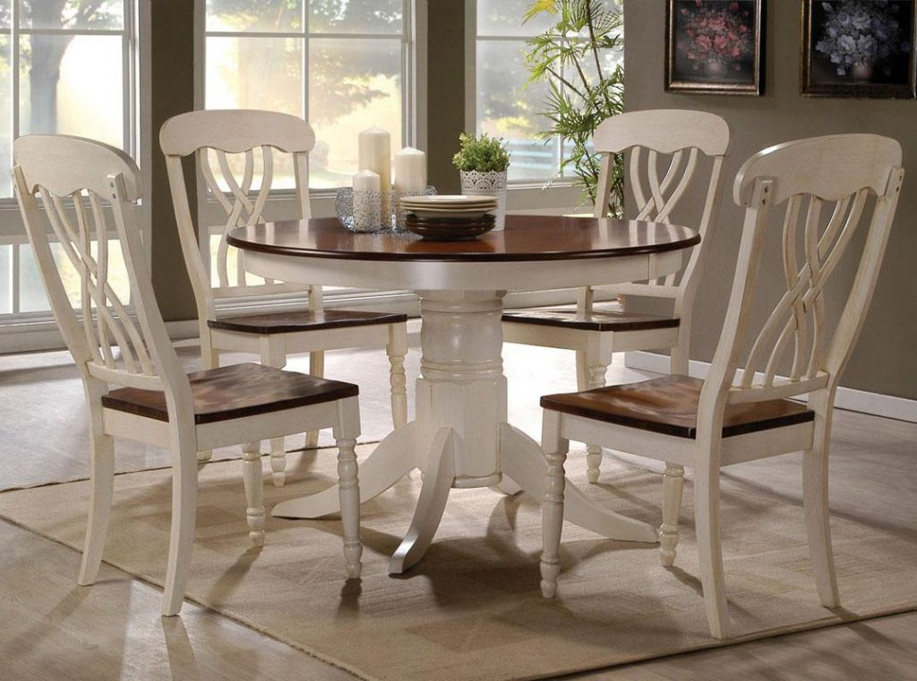 Acme Furniture Dylan Five Piece Dining Table And Side Chair Set