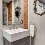 Exposed Brick Bathroom Wall