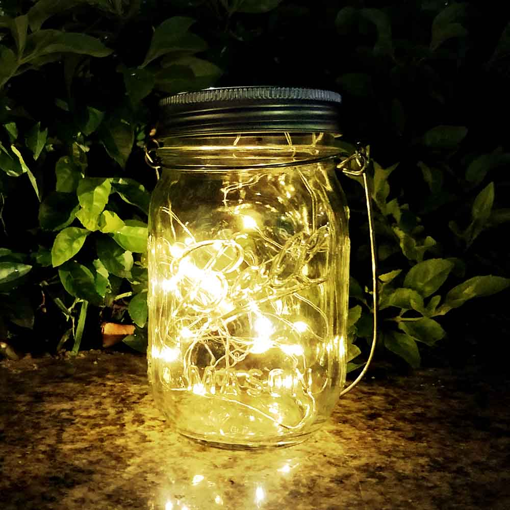 Agptek Solar Mason Jar Light Waterproof Led Lid Insert String Fairy