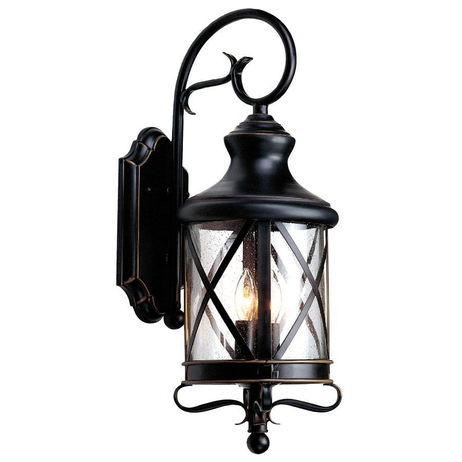 Allen Roth 2925 In Bronze Outdoor Wall Mounted Light Lowes Canada