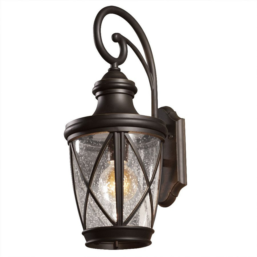 Allen Roth Castine 2038 In H Oil Rubbed Bronze Outdoor Wall Light