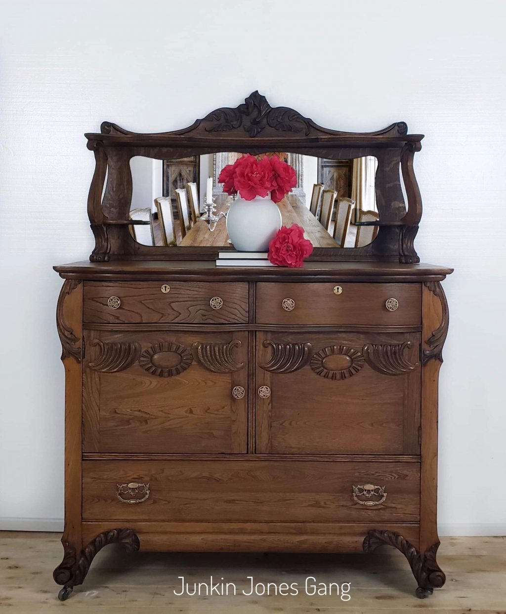Antique Victorian Buffet Traditional Sideboard Solid Wood Etsy