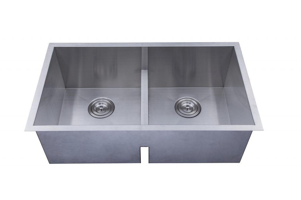 As366 3125 X 1795 X 1010 18g Low Divider Double Bowl