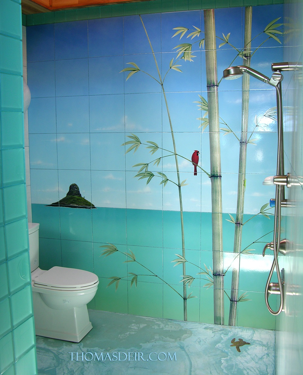 Asian Bamboo Bath And Shower Tile Murals Thomas Deir Honolulu Hi