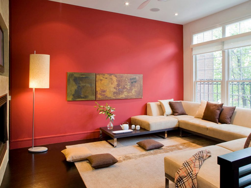 Asian Home Decor Ideas Red Accent Wall Living Room Colors Burnt