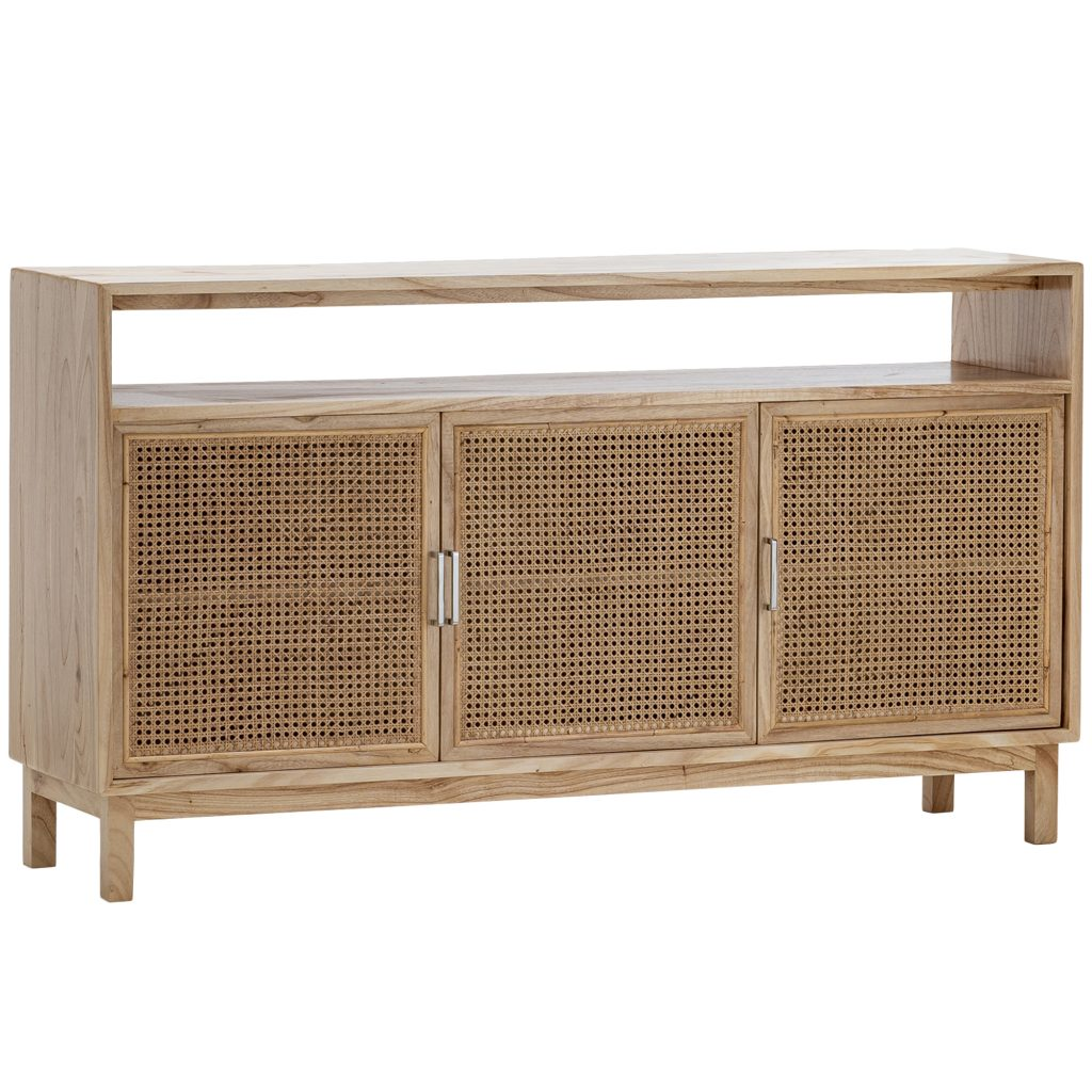 Atlanta Mindi Wood Rattan Sideboard Buffet Temple Webster