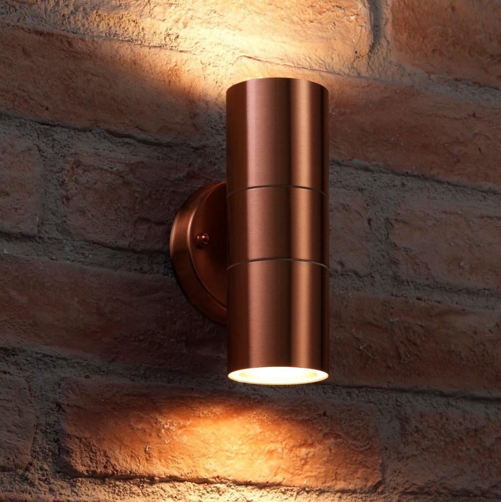 Auraglow Up Down Outdoor Wall Light Winchester Copper