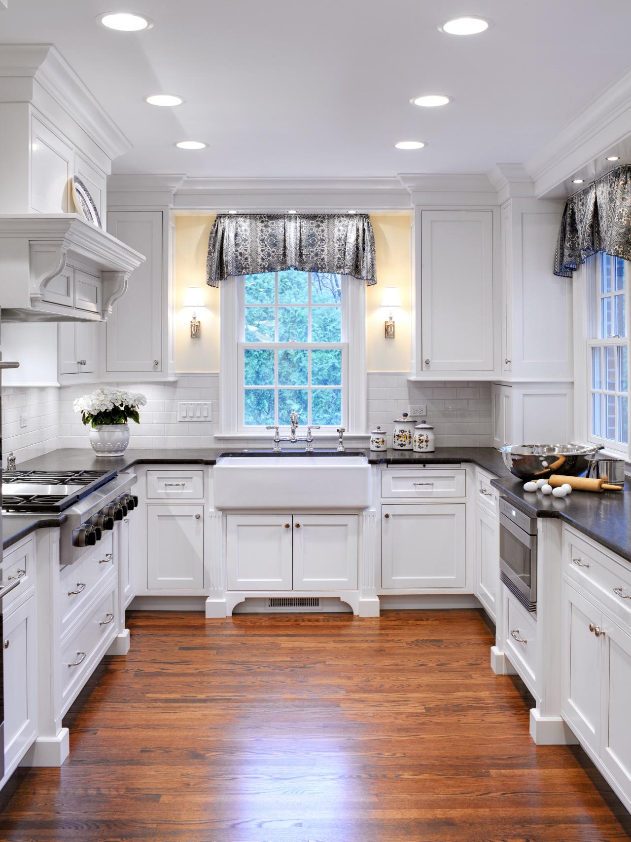 Awesome Small Cottage Kitchen Designs Presenting Beautiful Recessed Layjao