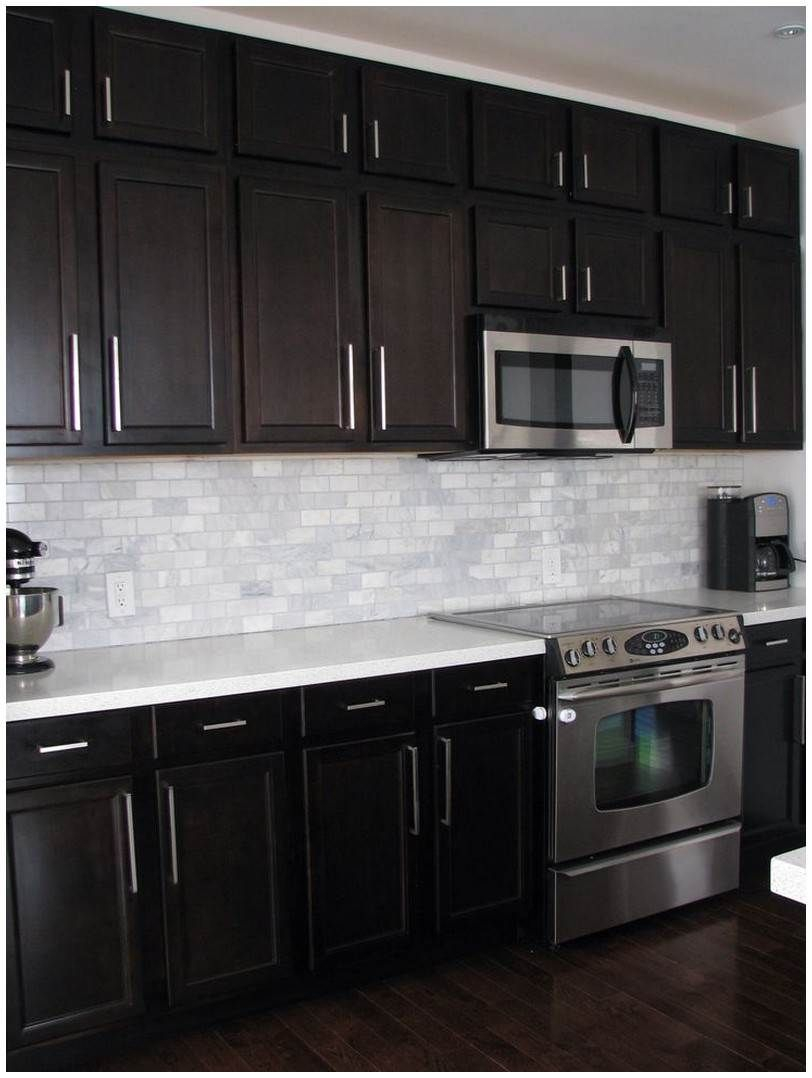 Backsplash For Dark Cabinets And Countertops Countertops Dark
