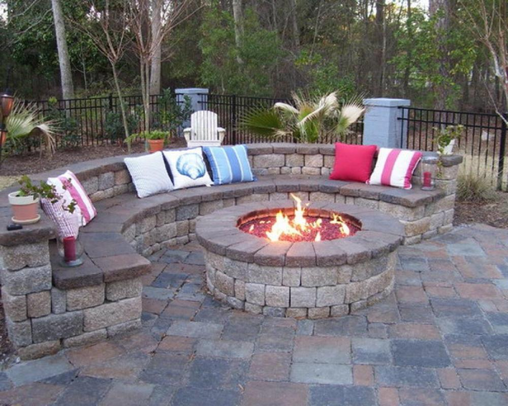 Backyard Design Ideas With Fire Pit Fireplace Design Ideas