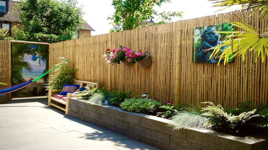 Bamboo Fancy Garden Fence Panels Home Inspirations Fancy Garden