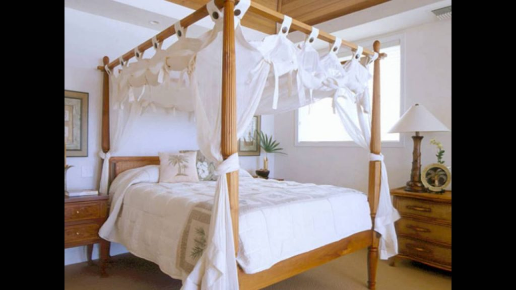 Bamboo Four Poster Bed Youtube
