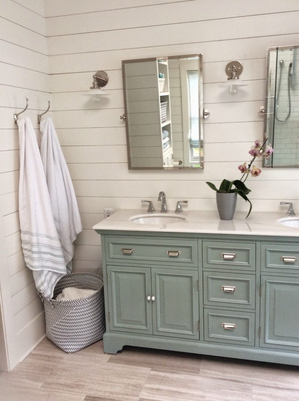 Bathroom Cabinets In Blue Cottage And Vine Friday Link Bathroom