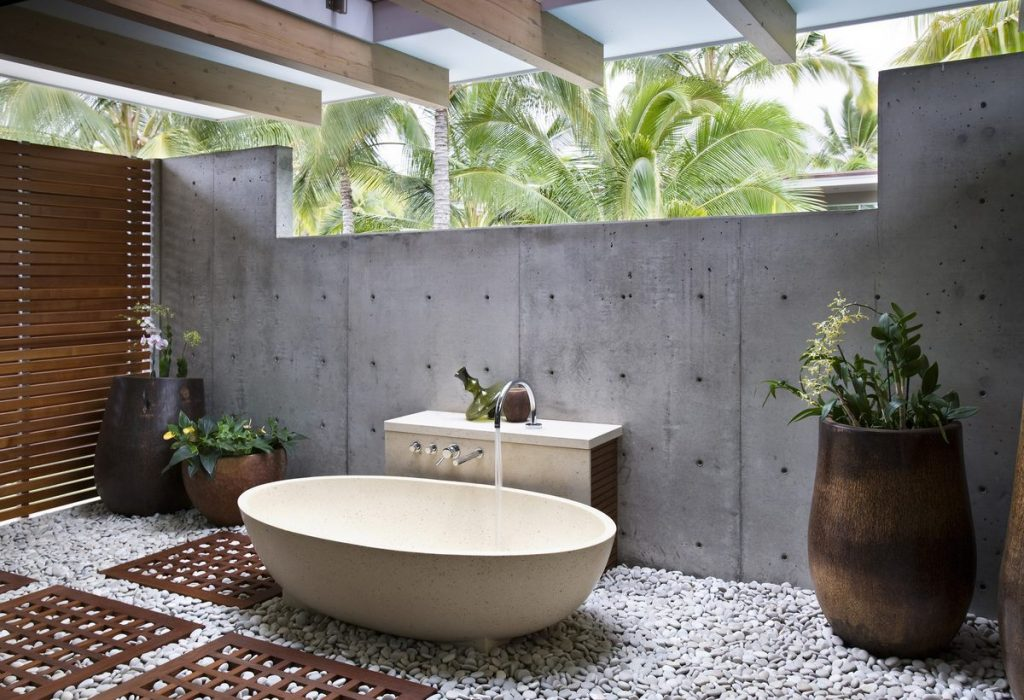 Bathroom Delicate Outside Of Outdoor Baths Stunning Using In The