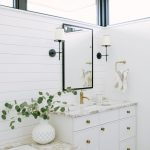 White and Tan Bathroom