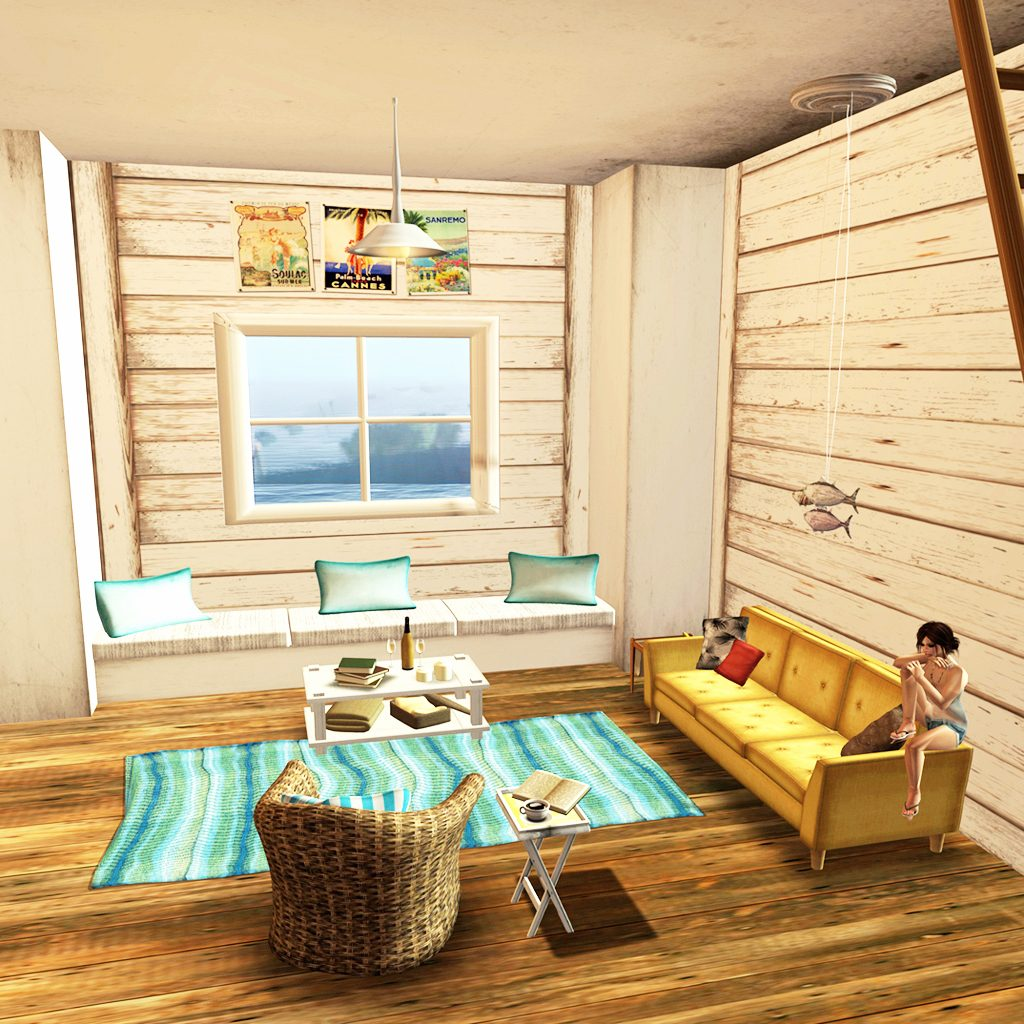 Bazar White Beach Cottage Living Room Icingonthekake