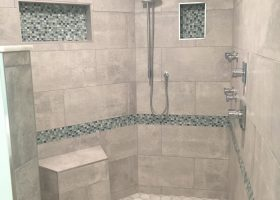 Beach Bathroom Shower Tile