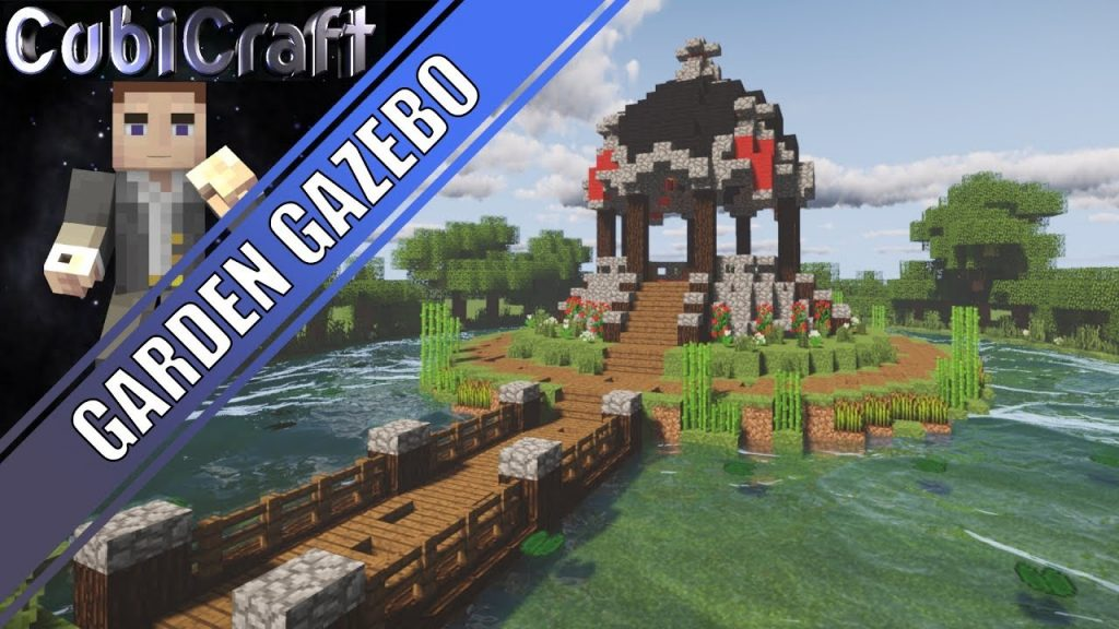 Beautiful Garden Gazebo Medieval Rustic Minecraft Tutorial Video
