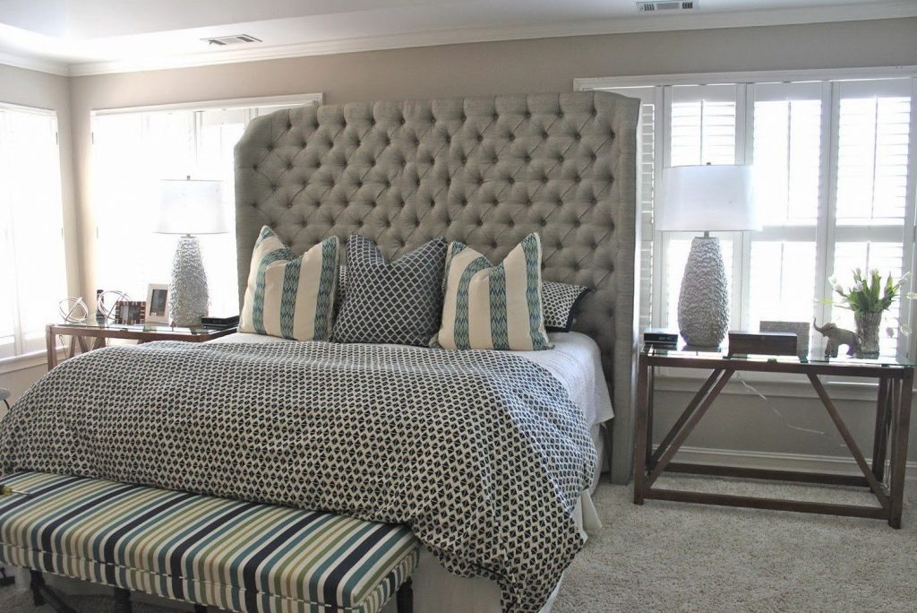 Bedroom Fancy Bedroom Decor With Tall Headboard Ideas