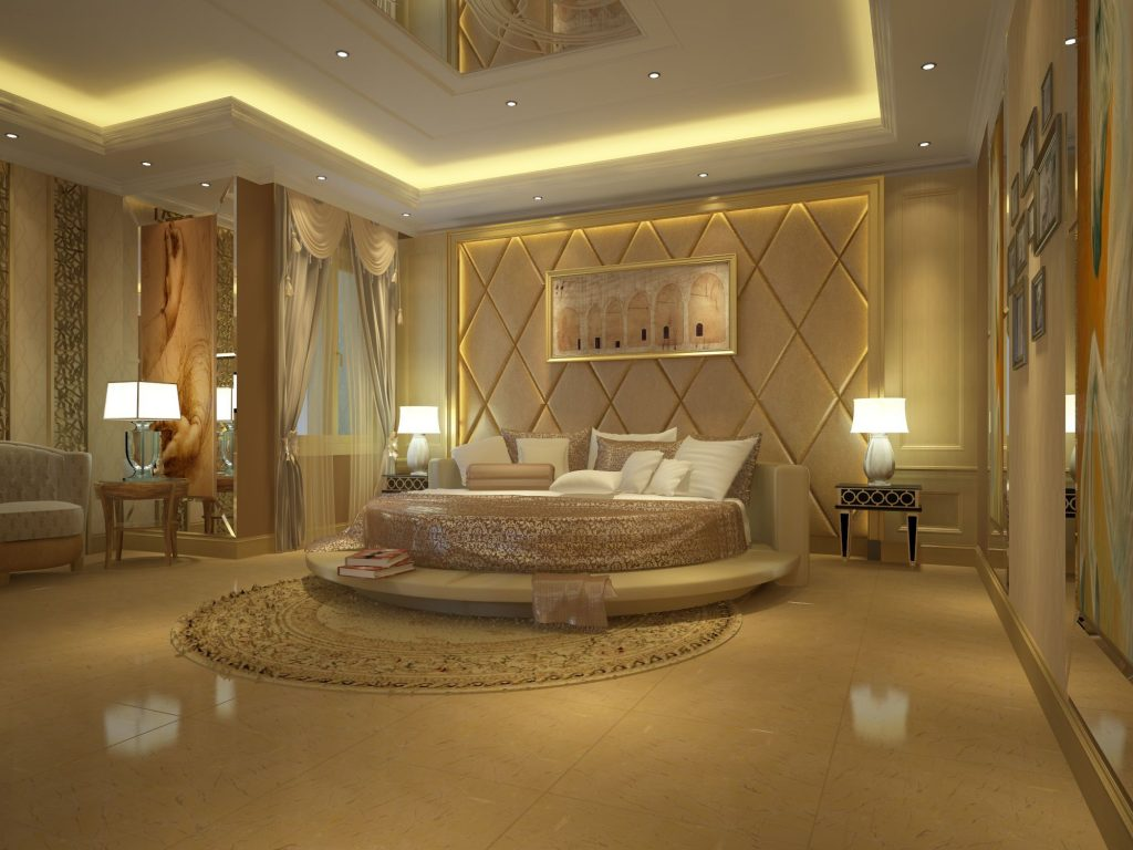 Bedroom Luxury Mansion Master Bedrooms White Marble Floor Ideas Tray