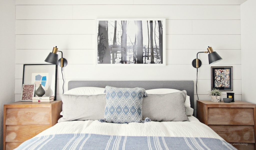 Before And After Relaxing Modern Farmhouse Bedroom Relocated Living