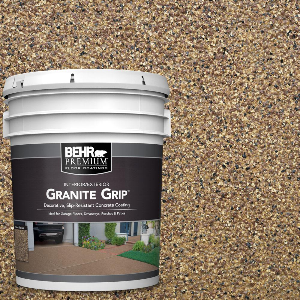 Behr Premium 5 Gal Gg 13 Pebble Sunstone Decorative Flat Interiorexterior Concrete Floor Coating