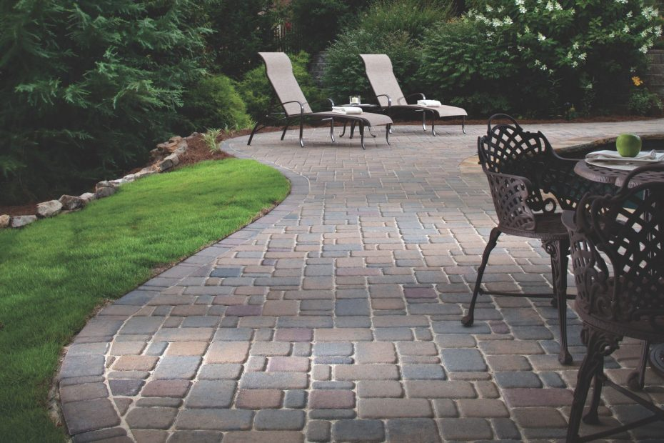 Belgard Cambridge Cobble Paver Patio Landscaping In 2019 Belgard
