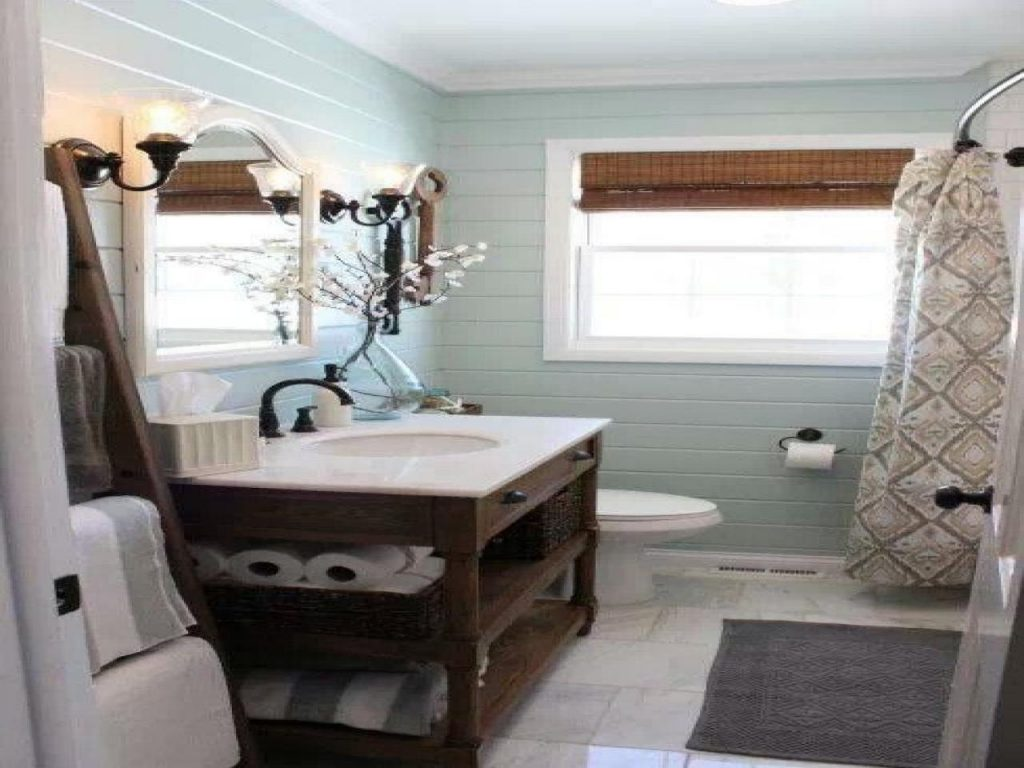 Benjamin Moore Palladian Blue Bathroom Home Design