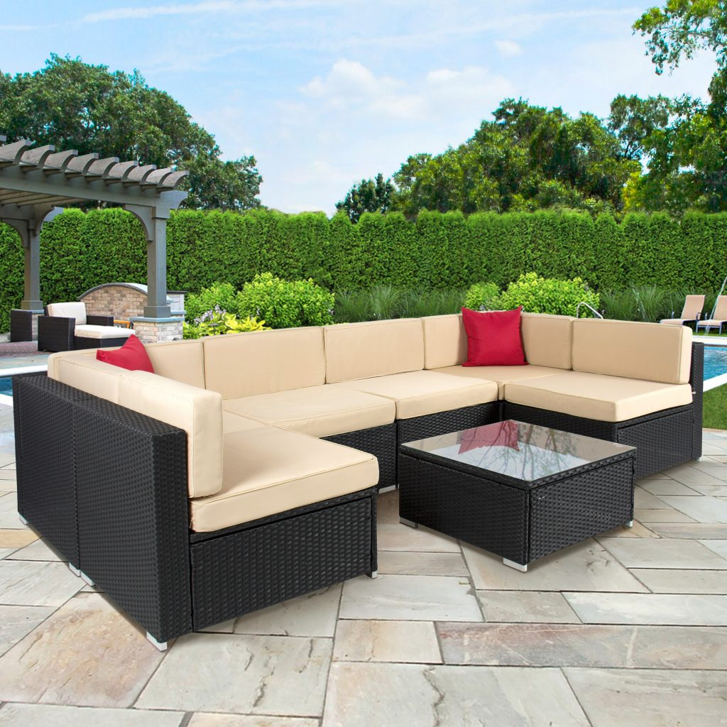 Bermuda 17 Piece Outdoor Wicker Patio Furniture Set 17c Walmart