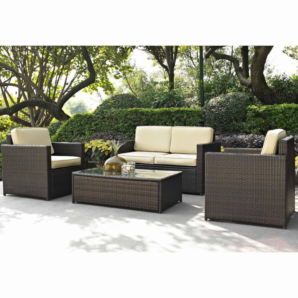 Best Choice Products 4 Piece Wicker Patio Conversation Furniture Set
