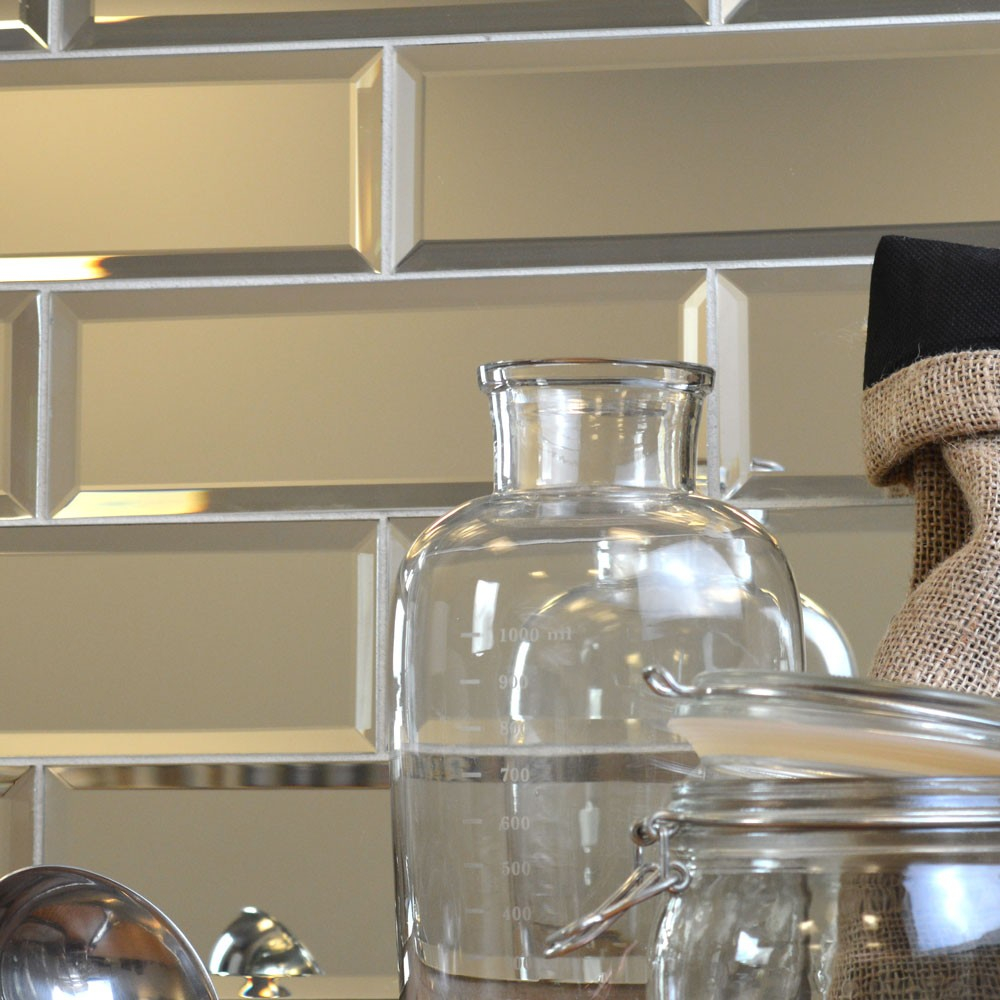 Bevelled Silver Mirror Glass New Edge Interiors