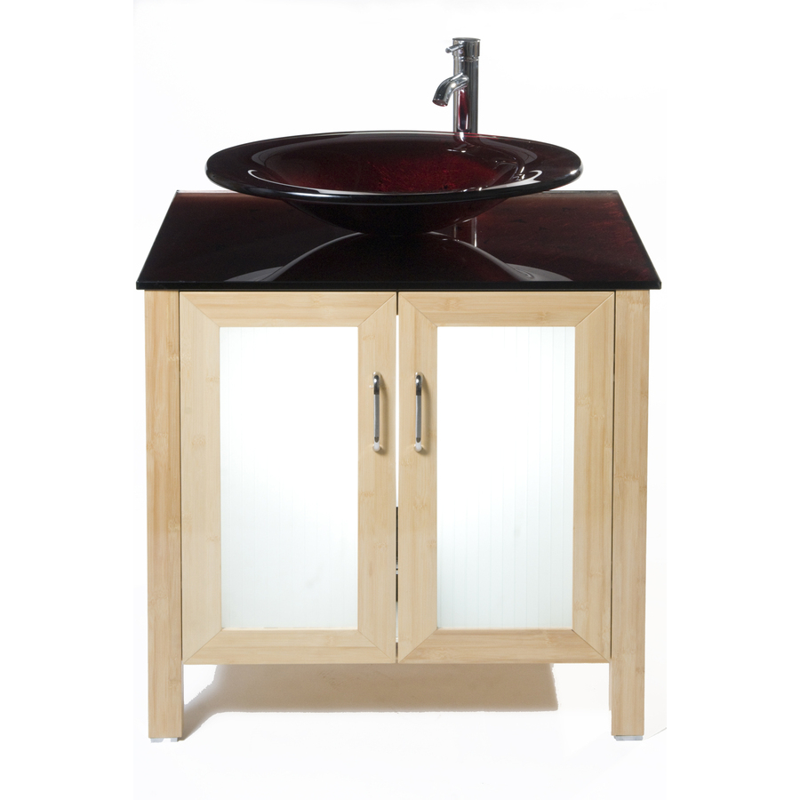 Bionic Waterhouse 31 In X 22 In Light Bamboo Single Sink Bathroom