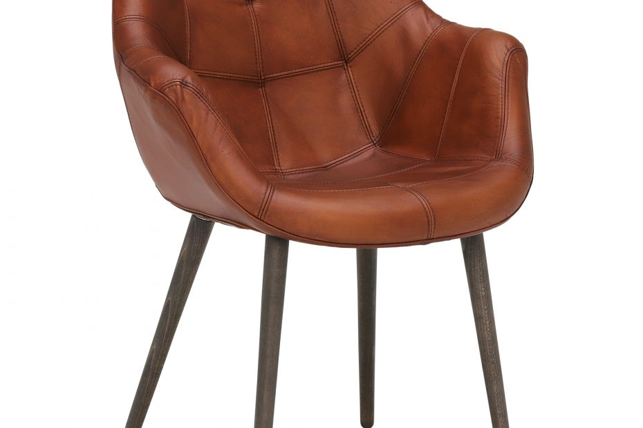 Birinus Leather Dining Chair Brown Chairs Barker Stonehouse
