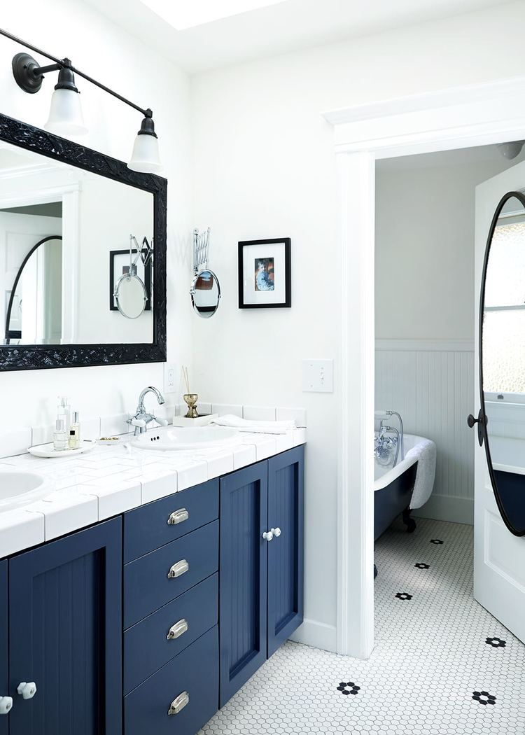 Black White And Blue Bathroom Inspiring Bathrooms Bathroom