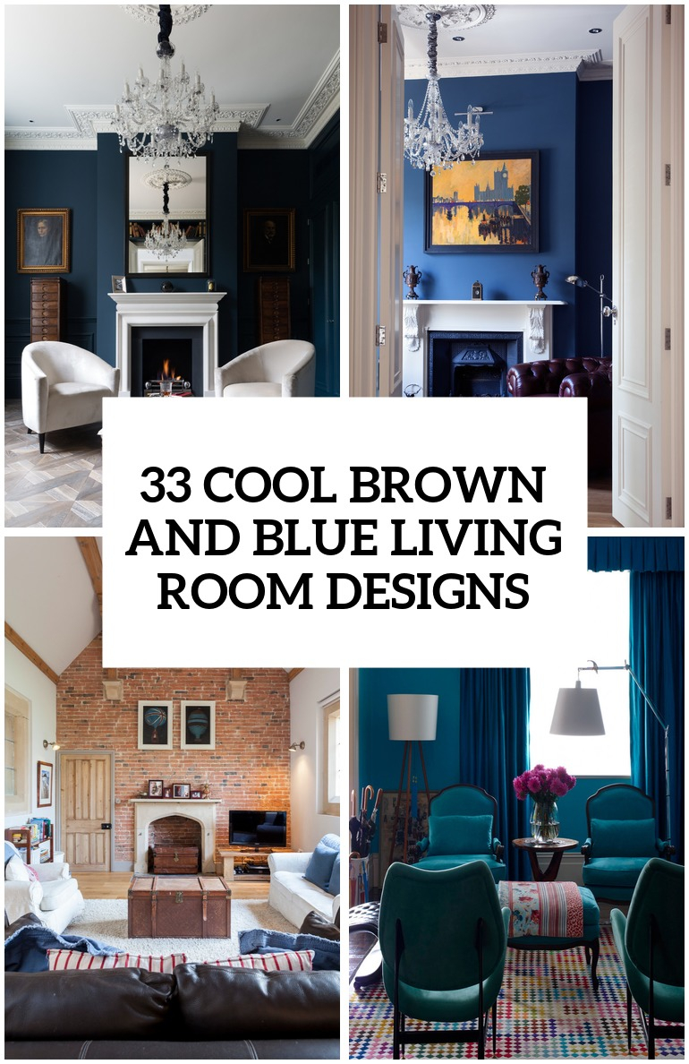 Blue And Brown Living Rooms Archives Digsdigs